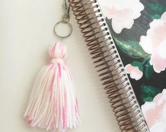 Bubblegum Yarn Tassel Keychain/ Handbag Accessory/ Planner Accessory