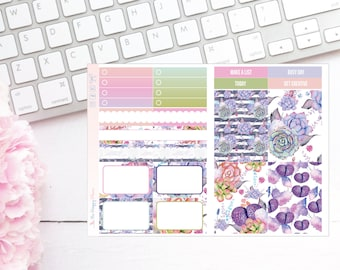 Painted Succulents Pocket TN Kit - Planner Stickers