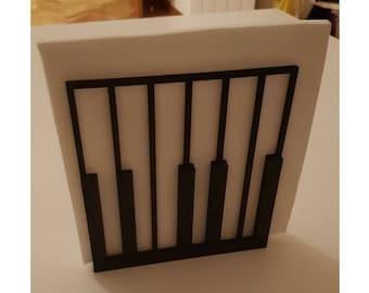 3d Printed Piano Keys Napkin Holder/Stand