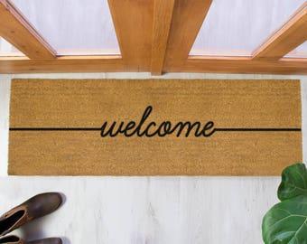 Welcome Patio Doormat   120x40cm   Patio Double Door Mat