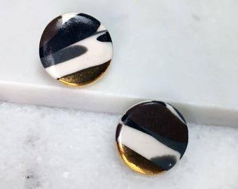 Calico Circle Earrings