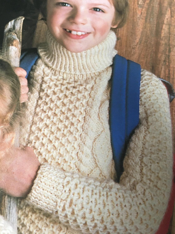 Childrens Knitting Pattern, Sunbeam Vintage Knitting Pattern, Aran ...