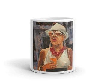 Cash in the Bank Mug, Coffee Mug, Tea Mug, Office Mug, Office Gift, Ceramic Mug, Gift Mug, Fun Mug, Sunglasses Mug, Coffee Cup, Fashion Mug