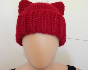 Sparkly Red Cat Hat