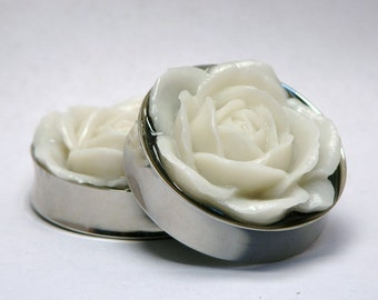 Flower Rose Plugs Reversible 1 1/2 Inch 38mm Ready to Ship
