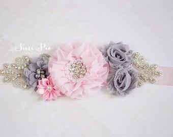 Flower Girl Sash...Bridal Belt / Sash..Bridesmaid Sashes..Maternity Sash...Ivory  / Flower Girl Sashes / Beige Ivory