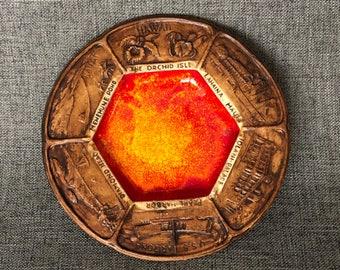 Vintage Treasure Craft Souvenir Hawaiian plate
