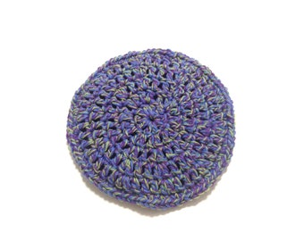 Fruit Explosion Crocheted Cotton And Nylon Netting Dish Scrubbie- Large Flat