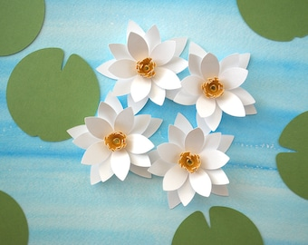 Water Lily Decorations /  Place cards / centerpiece 20 piece set