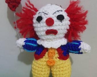 Keychain Pennywisse, it, Amigurumi, crochet