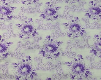 Superb vintage French floral fabric