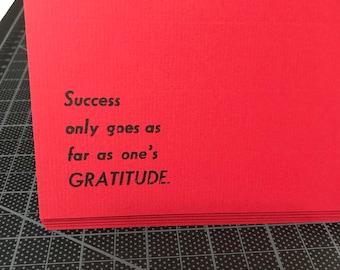 Gratitude/Thank You Card