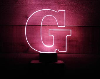 "A beautiful handmade ""Custom Made"" LED Night Light with an 8"" acrylic letter of your choice"