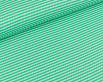 Jersey Jersey Gitta mint Emerald stripes stripes (19,90 EUR / meter)