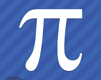 Pi Symbol Vinyl Decal Sticker Math 3.14