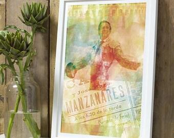 Matador Manzanares Padre A4 poster without frame