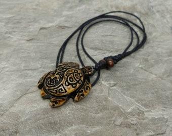 Turtle Necklace - Turtle Pendant - Turtle Jewelry - Turtle Gifts - Sea Turtle Necklace - Brown Turtle Necklace Tortoise Necklace Taino Coqui