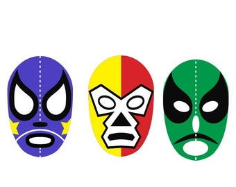 Luchador mask svg vector image