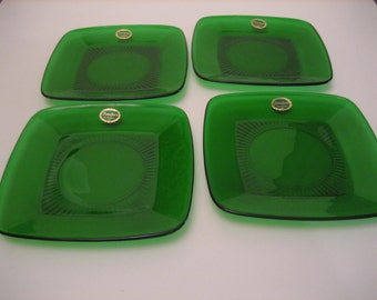 Forest Green Luncheon Plates