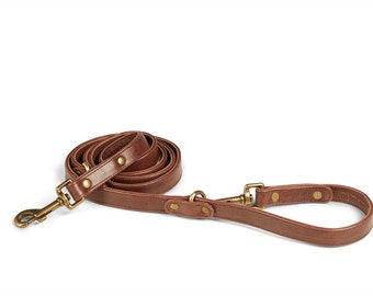 Santa Barbara Italian Leather Dog Leash