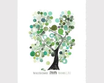 Valentine's day Gift - Custom Hebrew writing CELEBRATION ANNIVERSARY print, wall decor, room decor, art print