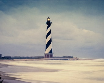 Cape Hatteras Lighthouse in Storm - Fine Art Photography - William Britten