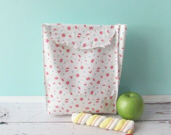 Lunch sack, snackbag Lunch bag School lunch Reusable pouch set Food storage bag.