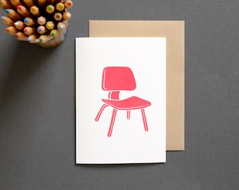 Eames Plywood Chair - Vintage Mid Century Modern Inspired Card