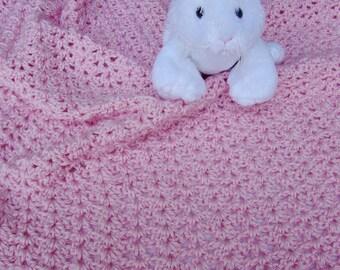 Crochet Baby Blanket, Baby Blanket Crochet, Crocheted Baby Blankets, Newborn Blanket, Pink Baby Blanket, Acrylic Blanket, Baby Girl Gift