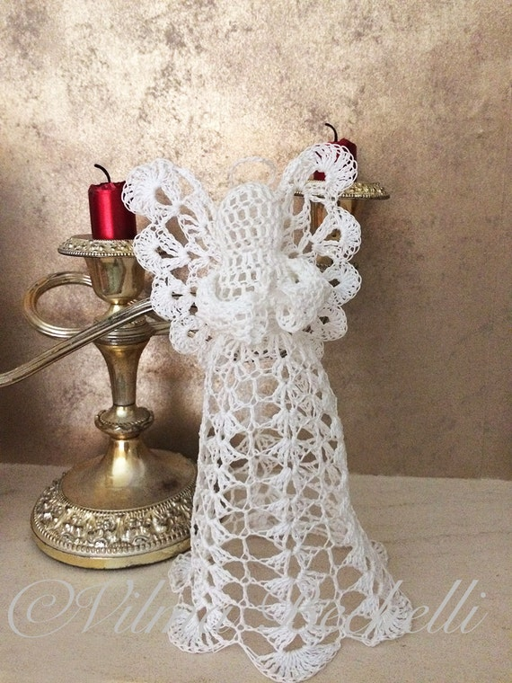 Angel Crochet Pattern Use As Christmas Tree Topper Or Just As