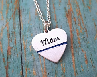 Police Mom Necklace - Police Mom - Blue - Police Mom Jewelry - Police Jewelry - Gift for Her- Cop Mom - Police - LEO - Law Enforcement