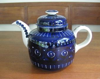 ARABIA Finland - VALENCIA - Tea Pot - Ulla Procopé - Midnightblue - Finnish Modern