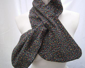 Scarf, mille fleur Scarf, Cordscarf, grey Scarf, Men, Women, Scarf two Sites