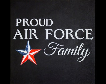 Proud Air Force Family - Word Art Stencil - Select Size - STCL1241 by StudioR12