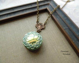 Vintage German Glass Button Necklace, Kyoto
