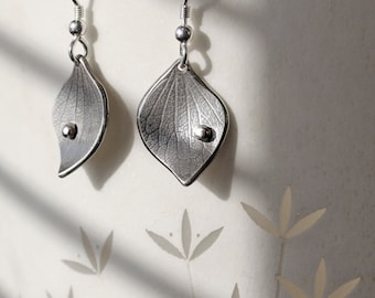 Silver Jewelry, Silver Jewellery, Silver Earrings, Hydrangea Earrings.