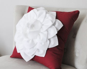 One Red Pillow Sham - Red Decorative Pillow - Red Pillow Cover - Red Pillows - Valentines Day Pillows - Ruby Red Pillowcases - Pillow Cover