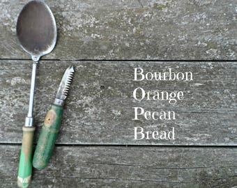 Bourbon Orange Pecan Bread RECIPE - PDF DOWNLOAD Cook Cooking Dessert Holiday Gift Printable