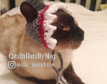 Handmade Crochet Shark Hat for Cats