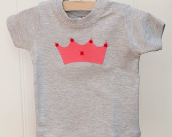 Baby Girl Crown T-shirt - Baby Clothing - Baby Girl - Girl's Clothing - Baby Tops - Girl's Tops - Baby T-shirt - Girl's T-shirts - Baby Girl