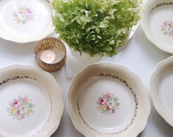 Bowls French Saxon Vintage China Bowls Pink Floral Soup Bowls Serving Bowls Dessert Salad Plates Dishes China Set Antique Entertaining & China set | Etsy