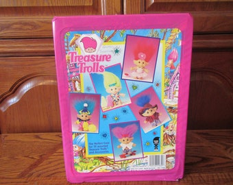 Treasure Trolls Carrying Case , Holds 10 Trolls and accessories, 1992 Ace Novelty Co.