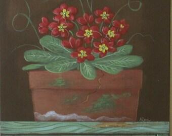 Primrose Folk Art Print