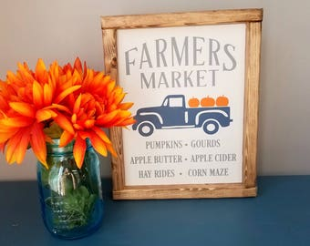 Fall sign. fall wood sign. fall decor. autumn decor. rustic fall decor .pumpkin truck sign. fixer upper decor. farmhouse fall sign. pumpkin