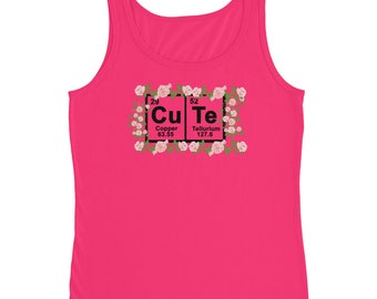 Cute Periodic Table Of Elements Chemistry Ladies' Tank