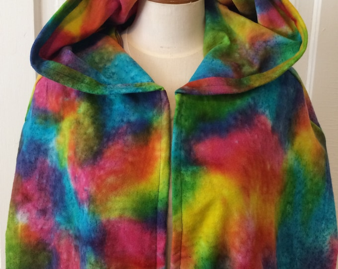 Rainbow Tie Dye Hooded Cloak - Limited Edition**