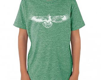 Kids Eagles Vintage T-Shirt, Youth Eagles T-Shirt, Eco Friendly Kids Eagles Tee