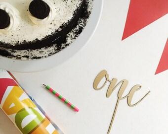One Cake Topper | Birthday Cake Topper | Anniversary