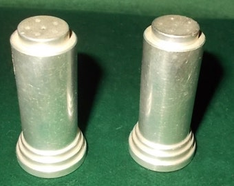 Salt Pepper Shaker Set Metal Mid Century Modern Shaker Set EAMES Era Aluminum Salt Pepper Shakers