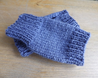 Childs Wrist Warmers, Arm Warmers, Fingerless Gloves in Blue